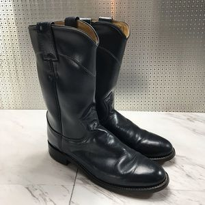 Justin Leather Western Cowgirl Riding Boots